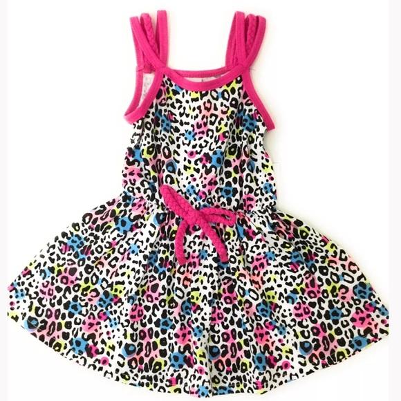 Toddler Summer Sundress Leopard Pink 12 Months 8def615be